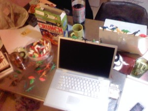 La table de travail